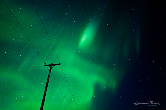 Electricpole and Northern Lights Johannesfrank