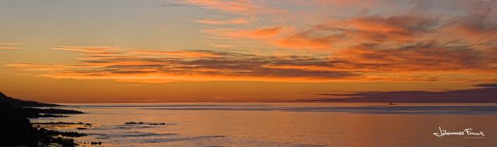Sunset at Strandir West Fjords Iceland Johannes Frank