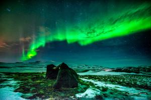 Morfellheidi with Northern Lights Johannes Frank