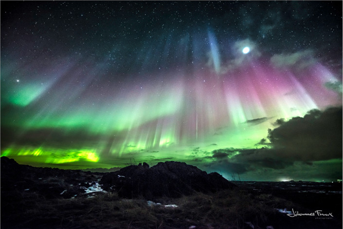 Majestic Northern Lights at Reykjanes Johannes Frank
