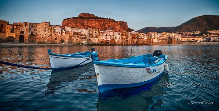 Travel Images Cefalu Boats Johannes Frank