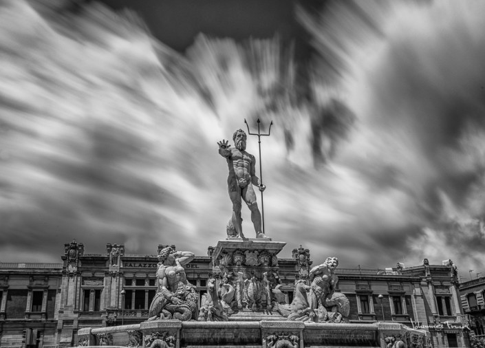 Travel Images Poseidon statue in Messina Johannes Frank