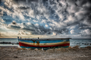 Travel Images Boat on a Beach Sicily Johannes Frank