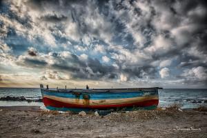 Boat on a Beach Sicily Johannes Frank