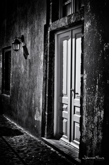 Santorini door Johannes Frank