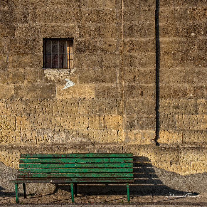 Travel Images green bench and window Johannes Frank
