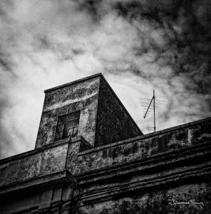 Travel Images tv antena window dark black and white johannes frank
