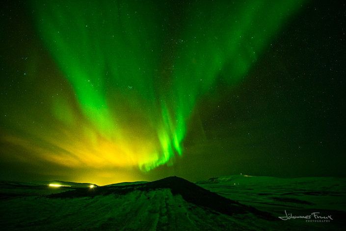 Mosfellsmountains and Northern Lights Johannesfrank