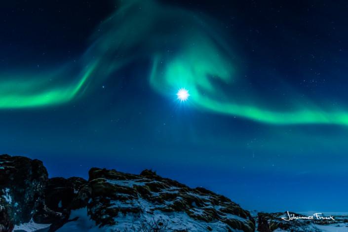 Northern Lights at Thingvellir Þingvellir johannesfrank