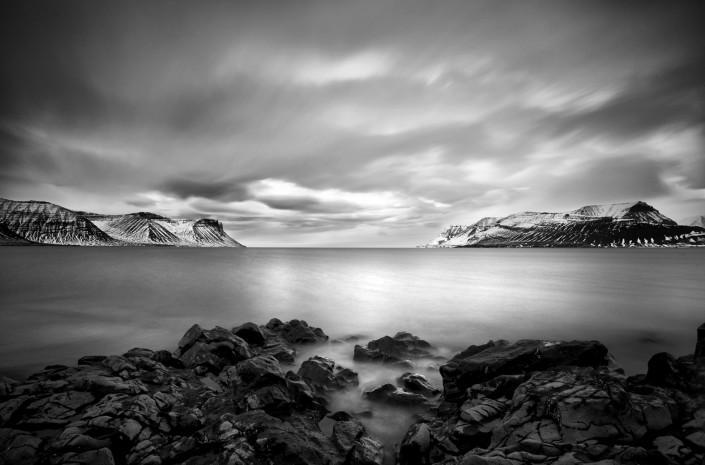 Black and White Photography Dyrafjordur Western Fjords Johannes Frank