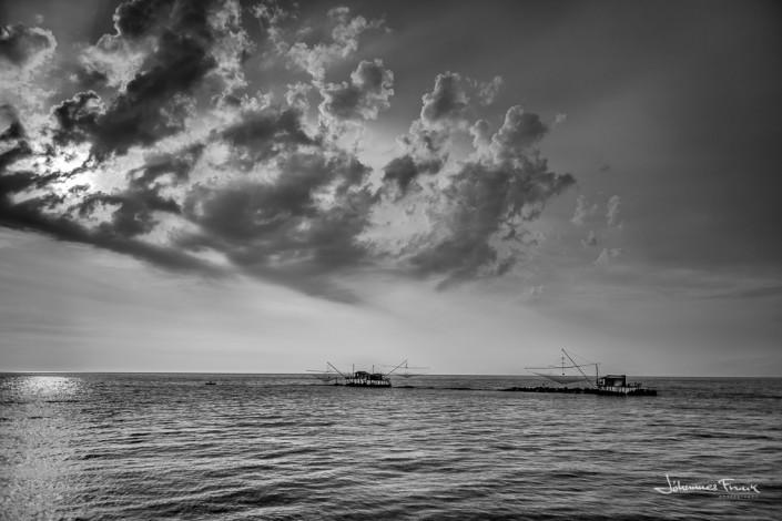 Fish Huts on the sea Johannes Frank