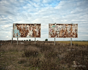 old empty billboard space Johannes Frank