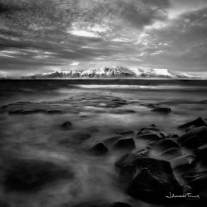 Black and White Photography Mount Esja 914m Johannes Frank