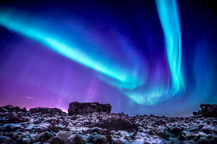 Northern Lights and Lava Johannes Frank