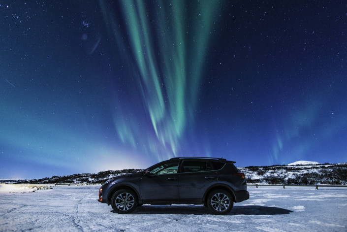 Toyota RAV and the Northern Lights