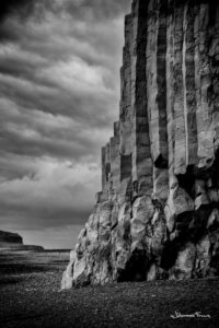 Black and White Photography Johannes Frank Reynisfjara beach and columnar rocks