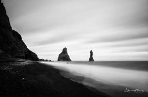 Black and White Photography Iceland Reynisfjara