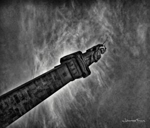Statue on a pole Johannes Frank