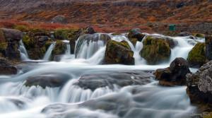 One of Dynjandi many waterfalls