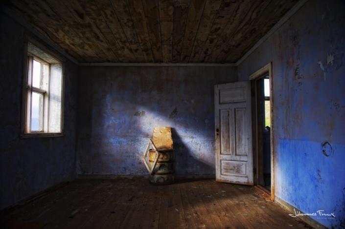 Blue room at Tjaldanes Anarfirdi