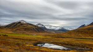 Icelandic landscape View up the Valley Brekkudalur in Dyrafjordur Johannes Frank