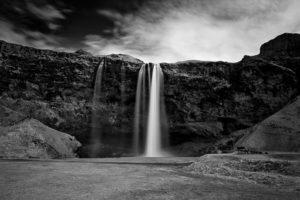 Icelandic landscape Seljalandsfoss