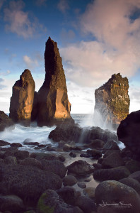 Icelandic landscape Big rocks at the beach on the Reykjanes peninsula Johannes Frank