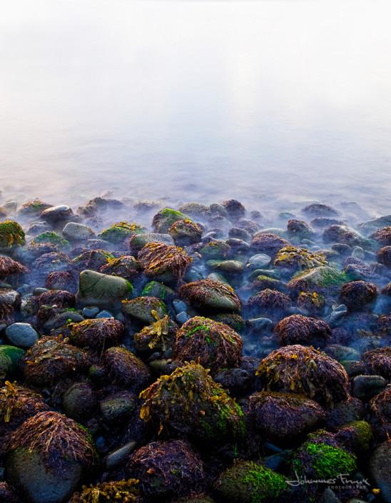 Icelandic landscape Colorfoul Rock on a beach Johannes Frank