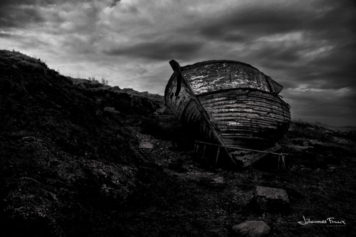 Stranded boat johannes frank