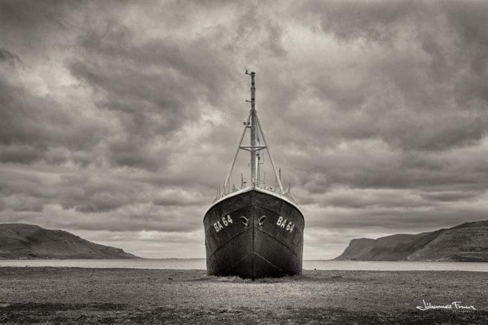 Gardar old boat in Patreksfjordur Iceland Johannes Frank