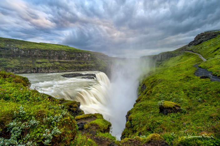 Image of Gullfoss waterfall in Iceland photo by johannes Frank