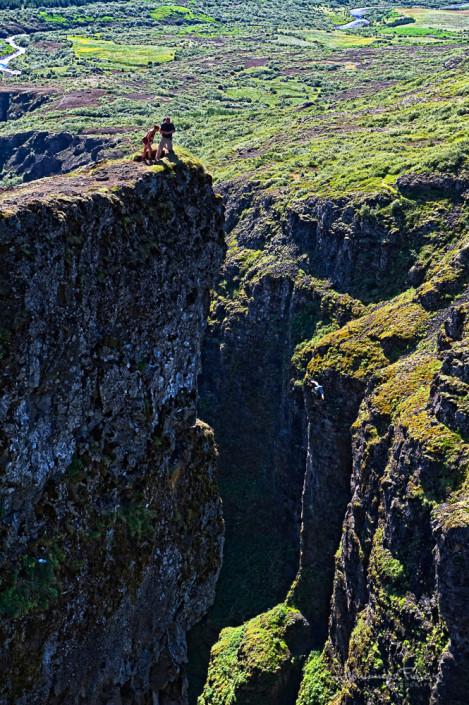 High on a cliff Johannes Frank