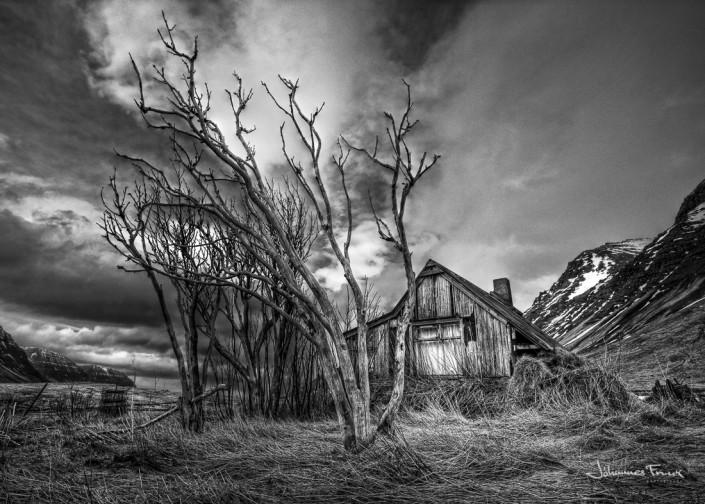 Tension before Summer abandoned house in breidardalur JoannesFrank