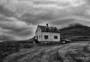 Hvammur old house in Dyrafjordur johannes frank