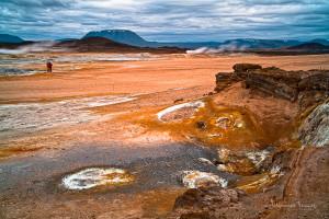 Icelandic landscape At Namaskard Johannes Frank