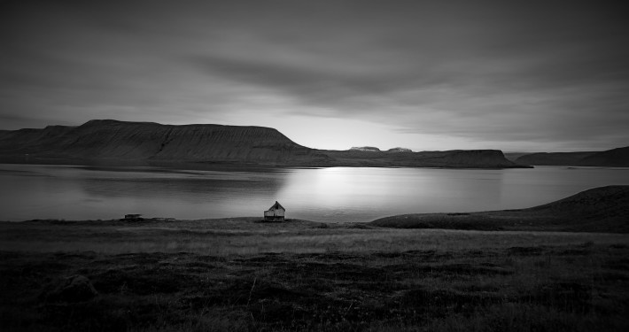 The old house Tjaldanes Arnarfirdi Iceland