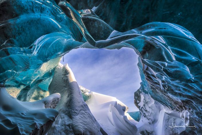Ice Cave opening Iceland Vatnajokull Johannes Frank