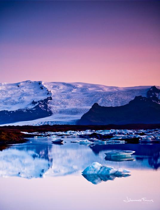 Icelandic landscape Glacier Lagoon
