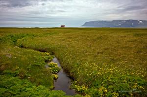 Icelandic landscape School house at Adalvik Johannes Frank