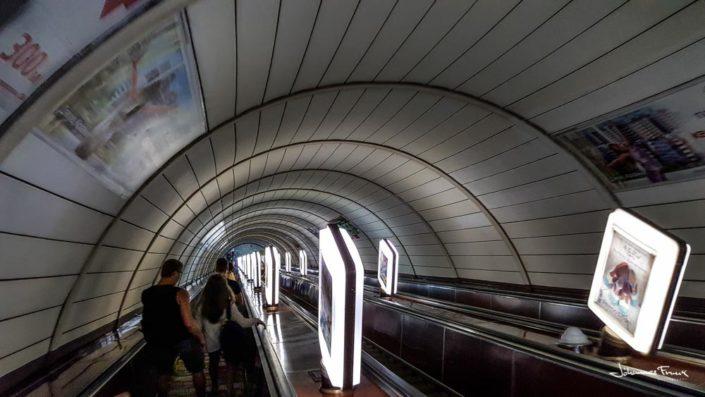 going down to Kiev Metro station johannesfrank