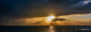 Sunset, boat on Horizon johannes frank