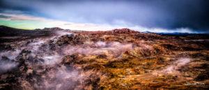 Panorama photographsGunnuhver hot spring Reykjanes Johannes Frank