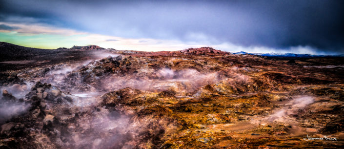 Gunnuhver hot spring Reykjanes Johannes Frank