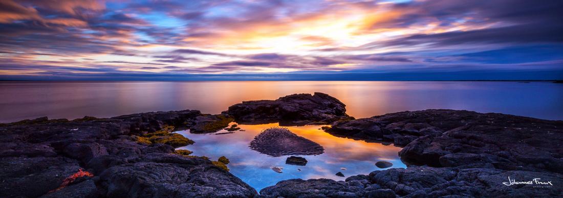 Sunset at Hvaleyri Johannes Frank