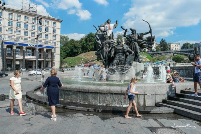 City-founders Independence square Kiev johannesfrank