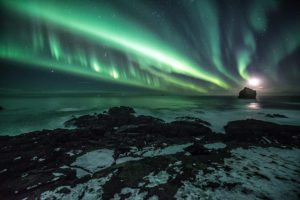 Reykjanestá Reykjanes Peninsula Aurora Borealis Johannes Frank