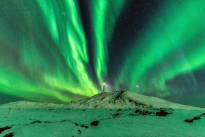 Northern Lights Reykjanesvita Marz 2017 Johannes Frank