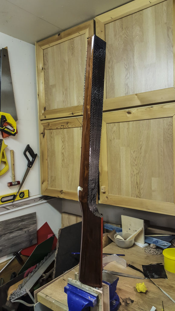 Making a wood laminate Benchrest Stock for Borden Action